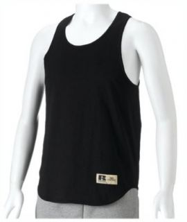 Russell Athletic Mens Cotton Performance Tank, Black
