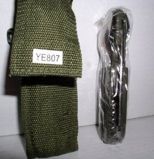 CAMPING KNIFE WITH FORK AND SPOON IN HEAVY DUTY POUCH