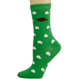 Arkansas Razorbacks Ladies Kelly Green Shamrock Socks
