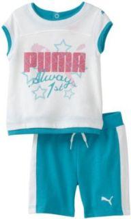 girls Infant Tee And Bermuda Short Set, Blue Bird, 12 Months Clothing