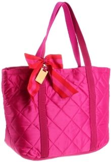 Tommy Hilfiger Novelty Nylon Tote,Bright Berry,One Size Shoes