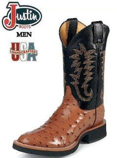 Justin Boots Tekno Crepe Full Quill Ostrich 5014 Shoes
