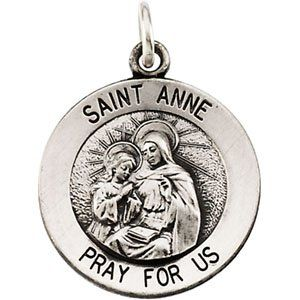 14K Yellow Gold St. Anne Medal DivaDiamonds Jewelry