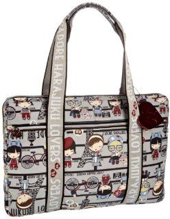 Lovers Parisian Cuties 15 inch Laptop Sleeve With Handles Shoes