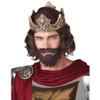Medieval King Wig (Brown): Clothing