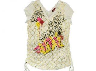 Womens Baby Phat Rapture Shirt White 2X Clothing