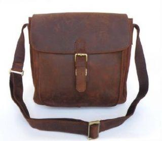 Samara Mens Full Grain Distressed Leather Crossbody Bag
