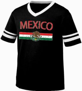 Mexico Crest International Soccer Ringer T shirt, Mexican