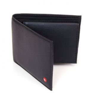 Alpine Swiss Mens Leather Bifold Wallet with Flip Up ID