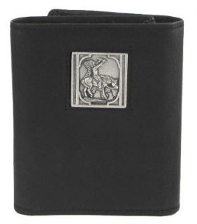 Native American Indian on Horse Leather Tri fold Wallet
