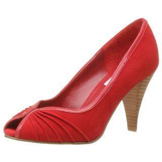 com Steve Madden Womens Allisson Open Toe Pump,Red Suede,5 M Shoes