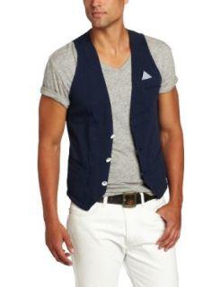 J.C. Rags Mens Heavy Jersey Vest Blazer Clothing