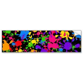 Splatter Wallpaper Bumper Stickers