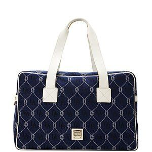 Dooney Bourke Signature Rope Carry On Travel Bag Tote Navy