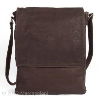 TORRENTE   Washable Leather Vertical Messenger Bag