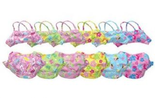 Girls Bikini w/Swim Diaper   Hawaiian Print (3 Yr (XXLarge
