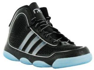 adiPURE J Tron Basketball Shoe,Black Black White,4 M US Big Kid Shoes