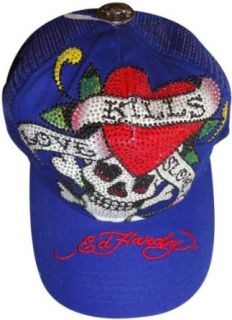 Mens Ed Hardy Hat Ball Cap Platinum Love Kills Slowly