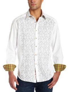 Robert Graham Mens Atoll Shirt,White,2XL Clothing
