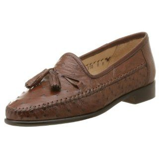 Mens Capetown Ostrich Tassel Loafer,Brown Ostrich Quill,14 M Shoes