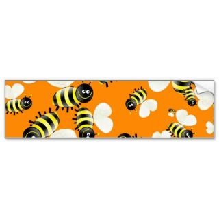 Bee Wallpaper Bumper Sticker