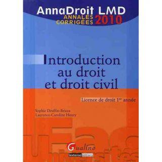 ANNADROIT 2010 ; INTRODUCTION AU DROIT ET DROIT CI   Achat / Vente