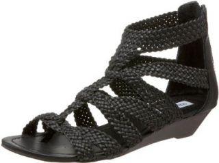 Steve Madden Womens Chakkra Wedge Sandal,Black,7.5 M US Shoes