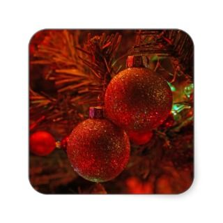 Sparkle Christmas ornaments photo holiday stickers