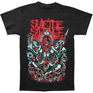 Rockabilia Suicide Silence Tribal Demon Slim Fit T shirt