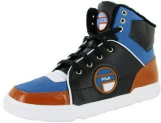 Top Leather Athletic Shoes Sneakers Black/Blue/Burnt Orange Shoes