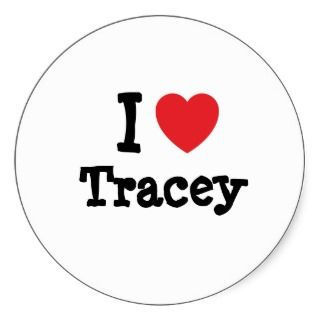 love Tracey heart custom personalized Stickers