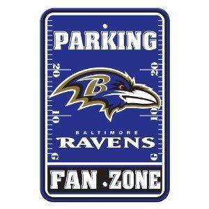 Baltimore Ravens Fan Parking Sign