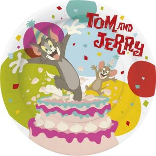 10 Assiettes Tom et Jerry (18cm)   Paquet de 10 assiettes Tom et Jerry