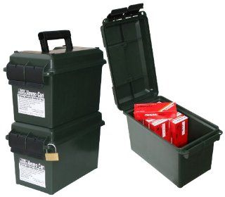 MTM Forest Green 50 Caliber Ammo Storage Can Sports