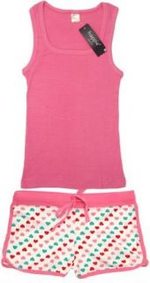 2pc Hearts PJ Set (Knit Top & Drawstring Boy Shorts