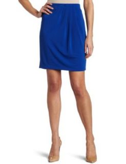 AK Anne Klein Womens Asymmetrical Pleated Knit Skirt