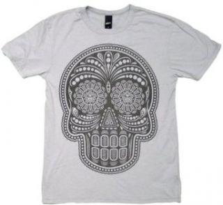 Dia De Los Muertos Mens Vintage Heather T Shirt in Grey by