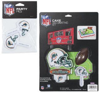 NFL Miami Dolphins Lay on Cake/Cupcake Decorations Sports