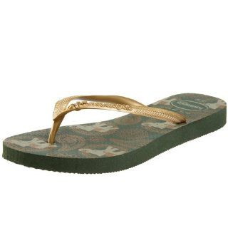Womens Slim Indian Elephant Flip Flop,Oliva,35/36 BR/5 6 M US Shoes