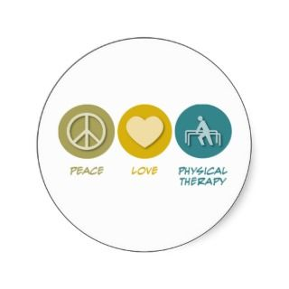 Peace Love Physical Therapy Sticker