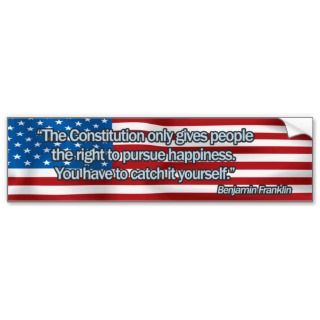 Benjamin Franklin Quote Bumpersticker Bumper Sticker