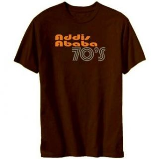 Addis Ababa 70s Retro Mens T shirt Clothing