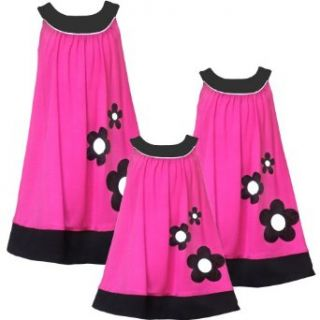 Size 16 RRE 51561F FUCHSIA PINK BLACK WHITE SEQUIN FLOWER