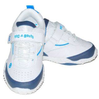 Roc A Bouts Toddler Boys Tennis Shoes White Blue Sneakers