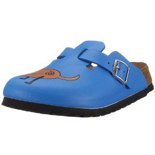 Clogs Birko Flor, Dog Blue Background, With A Narrow Insole Shoes