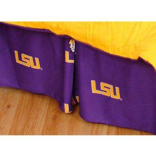 LSU Tigers Printed Bed Skirt  Queen Bed Sports & Outdoors