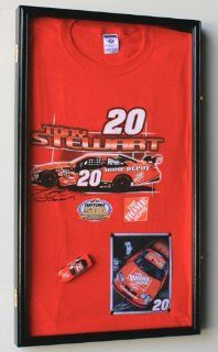 Nascar T shirt Display Case Cabinet Frame w/ UV Protection