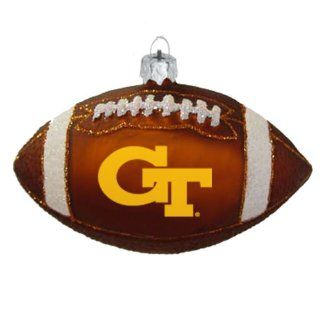 NCAA Georgia Tech Yellow Jackets Blown Glass Football