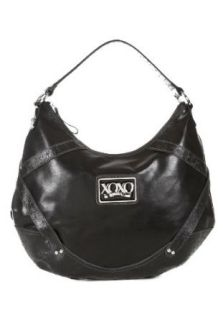 Emotion Vinyl Black Faux Leather Shoulder Bag Black