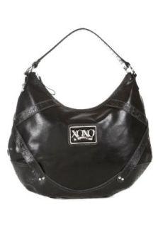 Emotion Vinyl Black Faux Leather Shoulder Bag Black